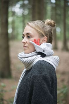 For the lady with a sense of humor: a parrot scarf.