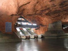 Radhuset underground in Stockholm