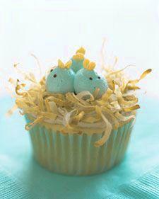 Spring - baby chicks cupcae