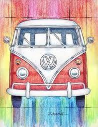 Resultado de imagen para kombi hippie tumblr desenho