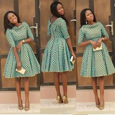 African Print Pleated Dress with Dual Neckline, African Flare Dress, African Short Dress, African Dress by MyAnkaraLove on Etsy African Dresses For Women, African Print Dresses, African Print Fashion, Africa Fashion, African Attire, African Fashion Dresses, African Wear, African Women, Fashion Prints