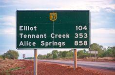 Stuart Highway road sign, Northern Territory