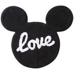"Mickey Mouse LOVE bath rug 100% cotton 32.0 "" L x 20.0 "" W Disney http://www.amazon.com/dp/B00JDV4OX6/ref=cm_sw_r_pi_dp_XYPlwb0CVNH8W"