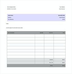 Basic Invoice Template  Basic Invoice Template And General