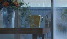 Appreciate the illustration by The Garden of Words in Japanese cartoon Aesthetic Gif, Aesthetic Backgrounds, Aesthetic Wallpapers, Anime Gifs, Anime Art, Katsura Kotonoha, Gif Bonito, Rain Gif, The Garden Of Words