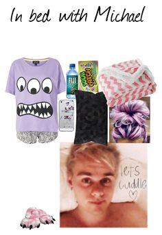 """""""In bed with Michael read d"""" by pretty-reject ❤ liked on Polyvore featuring Topshop, Casetify, Candie's, Lala + Bash and bathroom"""