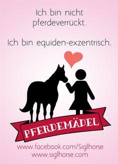 Ich bin nicht pferdeverrückt. Ich bin equiden-exzentrisch. Pferdemädel - Pferde Humor