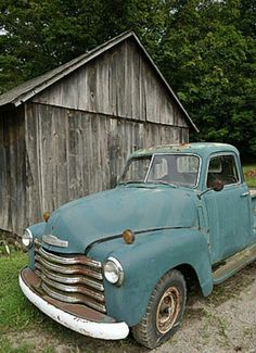 Old truck, old barn, perfect