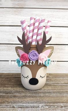 Idee Baby Shower, Shower Bebe, Fox Party, Bohemian Party, Crafts For Kids, Diy Crafts, Girl First Birthday, Baby Birthday, Mason Jar Crafts