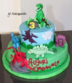 Torta con i dinosauri - ricetta torta e tutorial