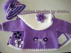 Crochet Woven Sweaters with Hoodie. Crochet woven sweaters for girls. Crochet woven sweaters with hoodie. Knitting For Kids, Baby Knitting Patterns, Crochet For Kids, Baby Patterns, Sweater Patterns, Easy Knitting, Crochet Patterns, Pull Crochet, Baby Girl Crochet