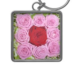 Red and Pink Roses Keychain