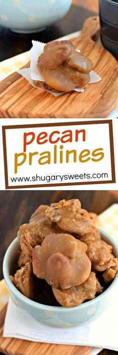 This buttery, brown sugar Southern candy is such a treat. Pecan Pralines are a c… This buttery, brown sugar Southern candy is such a treat. Pecan Pralines are a classic that you have to try! Pecan Praline Candy Recipe, Pecan Pralines, Pecan Recipes, Fudge Recipes, Candy Recipes, Sweet Recipes, Cooking Recipes, Pecan Candy, Praline Pecans