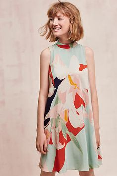 Anthropologie.com | We love the prints of this summer dress- click to shop the Les Fauves Silk Dress!