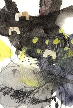 sanpoMixed media Acrylic abstract drawing Post card by miwhahan, ¥2500