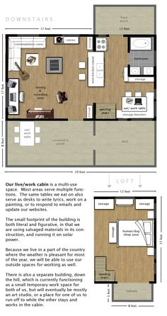 Floorplan for Live/Work Cabin