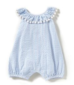 b2e2965f8ba Rare Editions Baby Girls 312 Months Seersucker Romper  Dillards Girls  Summer Outfits