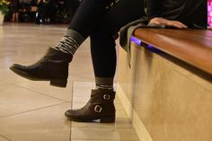 Casual boots and socks