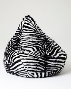 c23156046db7 Chillizone Bean Bag Zebra Faux Fur Adult 200 litre - Australian Made
