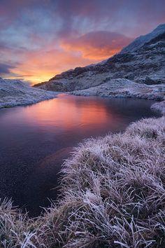 Frozen Cribau   Snowdon, Snowdonia, Wales, UK