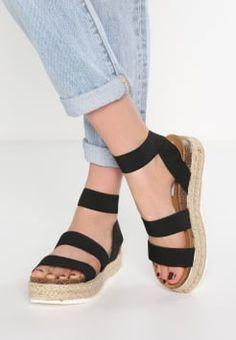 Zwarte Sandalen met plateauzool online kopen   Zalando