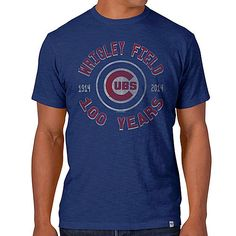 Chicago Cubs Wrigley Field 100 Years Scrum T-Shirt