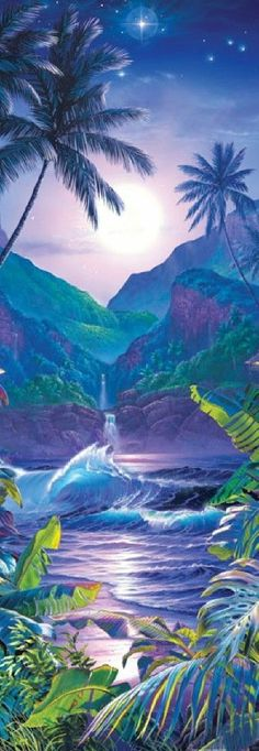 Christian Riese Lassen Secret Falls Panoramic Jigsaw Puzzle - 500 pc