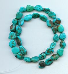 Real Turquoise Nugget Beads Blue Craft Or Jewelry