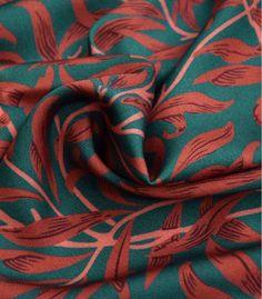Tissu satin de viscose - Mistletoe Mistletoe, Band, Pattern, Inspiration, Green Fabric, Fabric Flowers, Orange Brown, Green Backgrounds, Tissue Types
