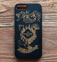 Harry Potter Wood iPhone 7 Phone Case The Marauder's by GoCarved