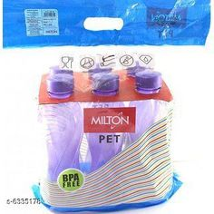 Water Bottles Milton Fridge Plastic Bottle Material: Plastic Pack: Pack of 3 Size: Free Size Country of Origin: India Sizes Available: Free Size   Catalog Rating: ★4 (793)  Catalog Name: Colorful Water Bottles CatalogID_1007119 C130-SC1644 Code: 142-6335178-954