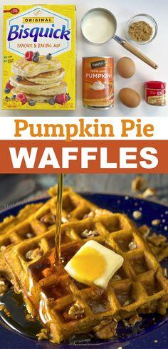Pumpkin Pancakes Easy, Pumpkin Spice Waffles, Pumpkin Breakfast, Fall Breakfast, Breakfast Ideas, Breakfast Recipes, Breakfast Time, Brunch Recipes, Bon Appetit