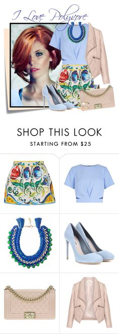 """""""....."""" by elenb ❤ liked on Polyvore featuring Post-It, Dolce&Gabbana, New Look, Ricardo Rodriguez, Miu Miu, Chanel, Zizzi, Accessorize, Summer and women"""