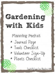 Gardening with Kids Planning Packet: Free Printables for Gardening with Kids.  Repinned by Apraxiakidslearning