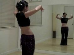 Tribal Fusion Belly Dance Combo: Lunge back & half circles - YouTube