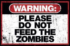 Zombie Warning Poster bij AllPosters.nl