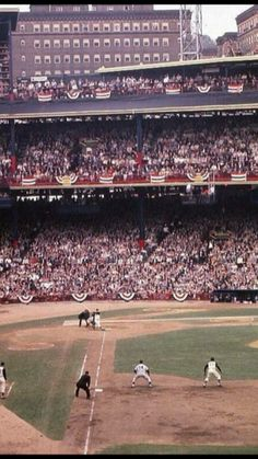 1960 World Series in Pittsburgh. Clemente on 1st base