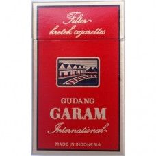 Gudang Garam International Gudang Garam International Merah, filter kretek cigarette, is the top-selling cigarette compared with any other kretek cigarettes in the world. This most popular cigarette brand is the evidence of Gudang Garam high quality products. Gudang Garam International : 1 carton contains 20 packs. 1 pack contains 12 cigarettes. Tar Volume 30 mg Nicotine Volume 1.8 mg Black Cigarettes, Cigarette Brands, Filters, Popular, Top, Products, Most Popular, Beauty Products