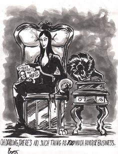 inktober 22--> Misfits/Addams Family