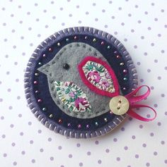 Key ring key fob embroidered keyring meadow flower felt | Fabric Crafts | Popular Crafts | Craft Juice