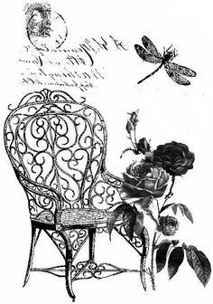 Fotel rózsákkal
