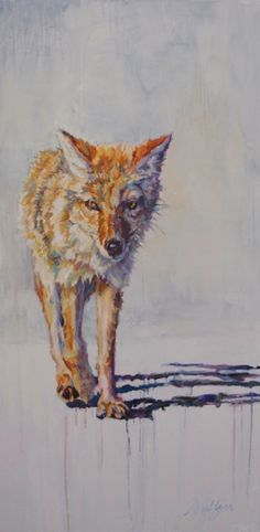 """Daily Painters Abstract Gallery: Wildlife Art Painting """"Wrangler"""" by Contemporary Animal Artist Patricia A. Native American Paintings, Native American Art, Wildlife Paintings, Wildlife Art, Original Paintings, Original Art, Dog Corner, Animal Projects, Pet Portraits"""