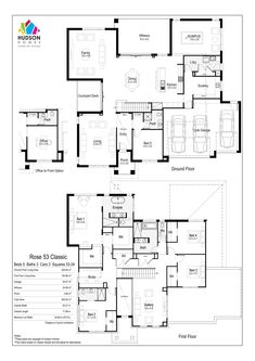House Layout Plans, House Plans One Story, Family House Plans, Dream House Plans, Modern House Plans, House Layouts, Modern House Design, House Floor Plans, Pool House Designs