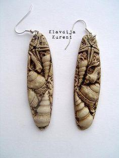 Polymer clay earrings by Klavdija's corner, via Flickr
