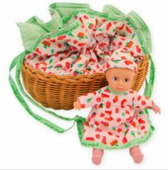 Penelope Peapod / Doll with Basket 'Ice Cream Social' by Penelope Peapod. Save 13 Off!. $34.99. Oppenheim Toy Portfolio Platinum Medal Award Winner. Based on an old fashioned, grandmother-made design. Fun and fashion combined - from purse to playtime in no time. Great for travel across town, around the world or for pretend play right at home. For ages 3 years and older. Penelope Peapod is the perfect accessory and toy for every girl on the go! She is both a doll in a bassinet ...