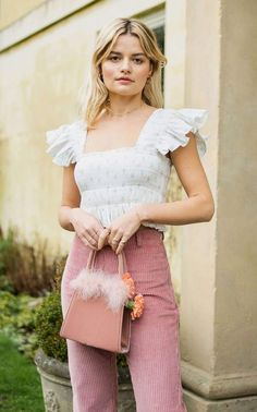 Girly Girl Outfits, Girly Outfits, Cute Preppy Outfits, Preppy Clothes, Girly Girls, Preppy Girl, Preppy Style, Pink Style, Romantic Outfit