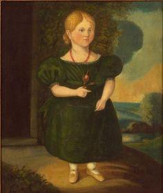 Old folk art portraits.