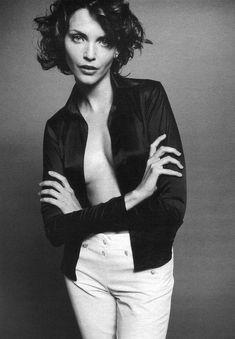 "W November 1995 ""Noir et Blanc"" Model: Nadja Auermann Photographer: Satoshi Saikusa"
