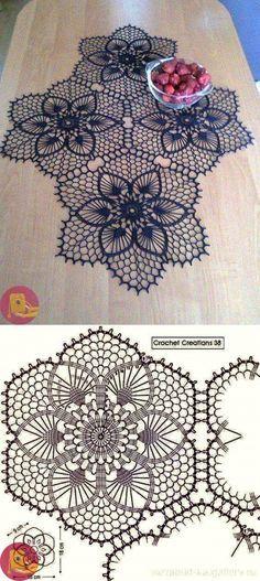 Watch The Video Splendid Crochet a Puff Flower Ideas. Phenomenal Crochet a Puff Flower Ideas. Crochet Doily Diagram, Crochet Square Patterns, Crochet Stitches Patterns, Crochet Chart, Crochet Squares, Thread Crochet, Filet Crochet, Crochet Motif, Crochet Designs
