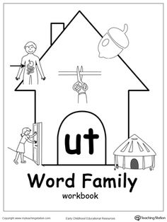 UT Word Family Workbook for Kindergarten: Our UT Word Family Workbook includes a variety of printable worksheets to help your child boost their reading and writing skills. The workbook includes printable worksheets and flashcards of common words ending with UT.